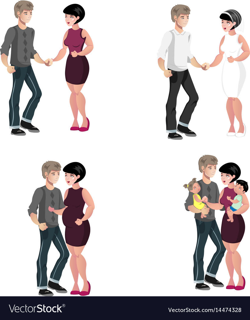 Happy family stages