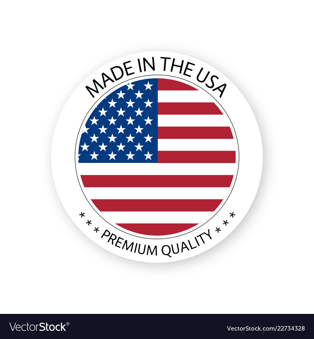 Modern made in the usa label