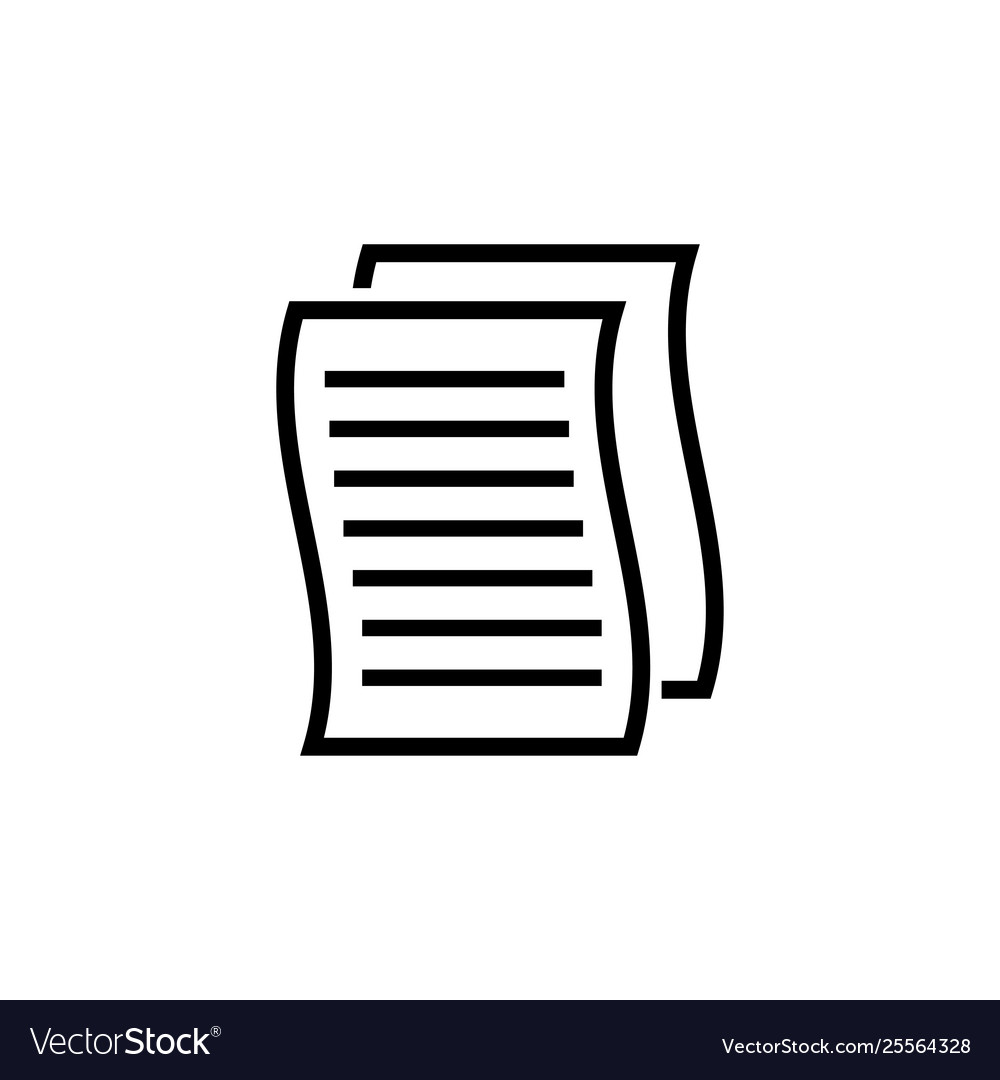 Paper copy file document flat icon