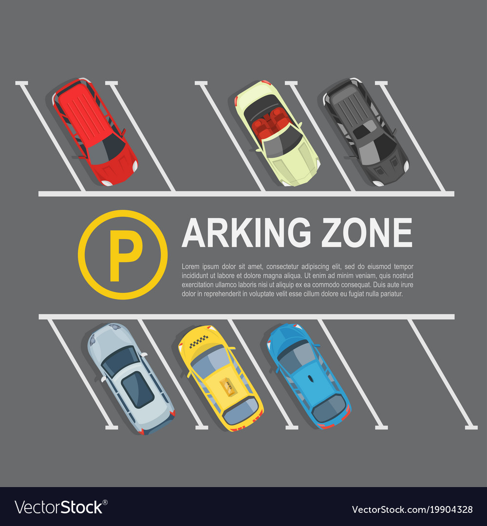 Parking lot top view Royalty Free Vector Image