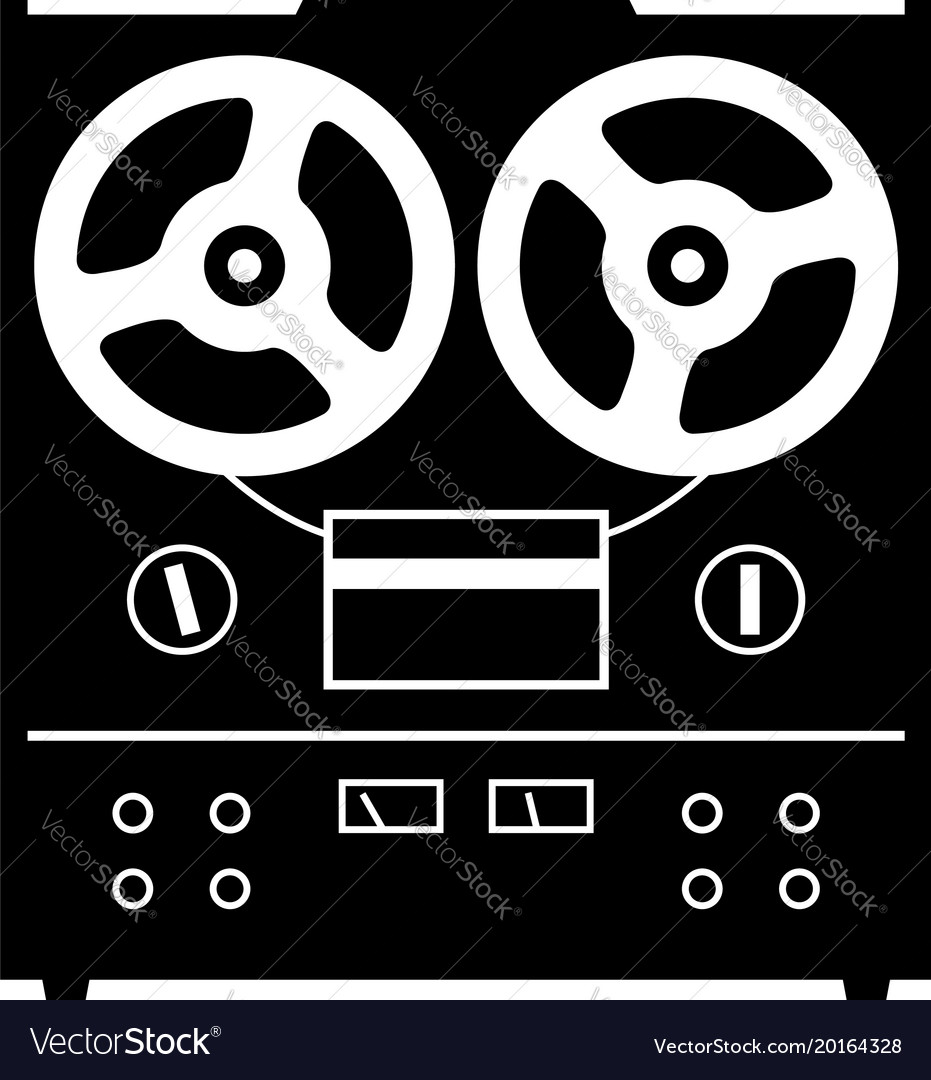 Reel to reel tape deck player recorder