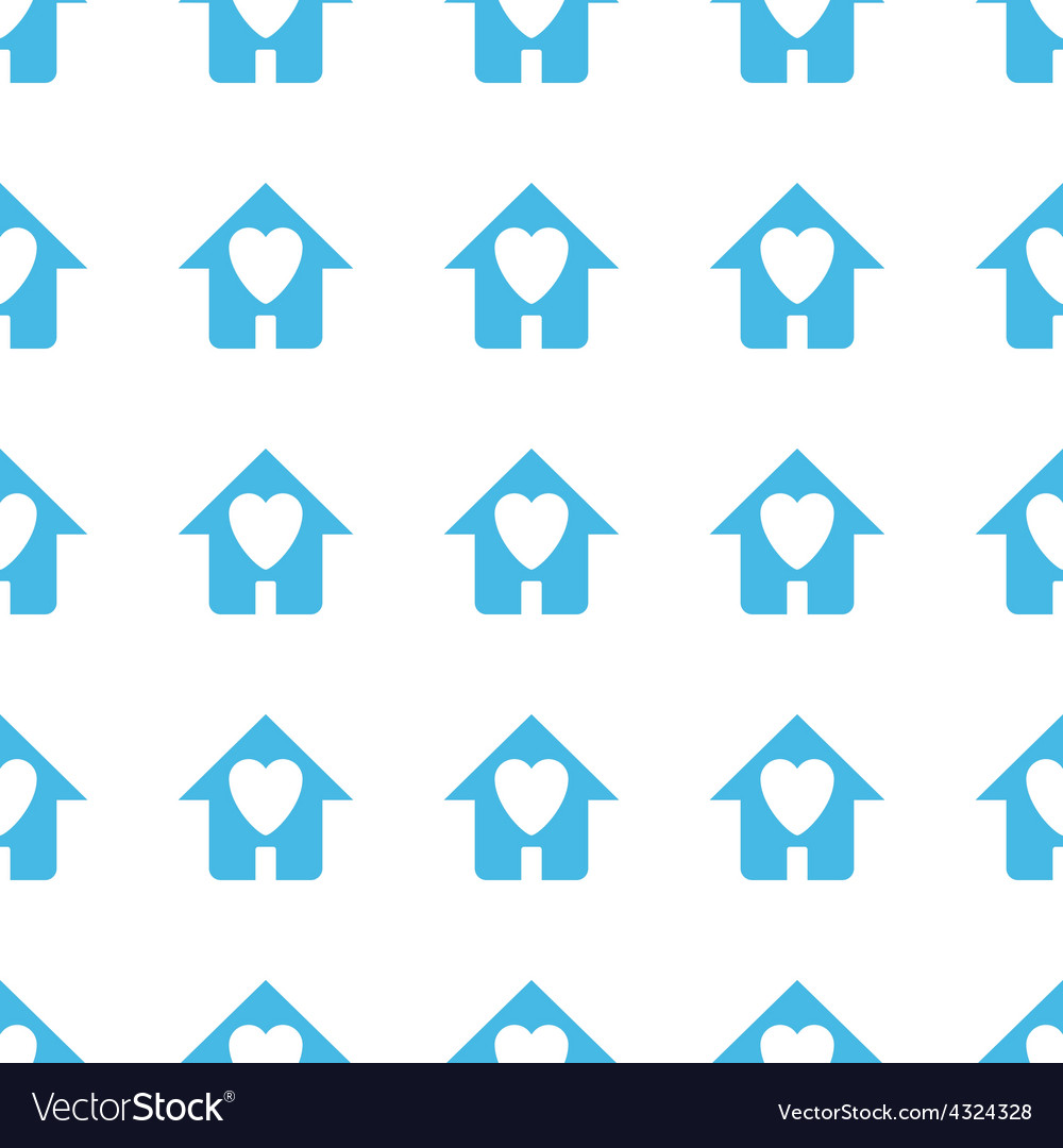 Unique Love house seamless pattern