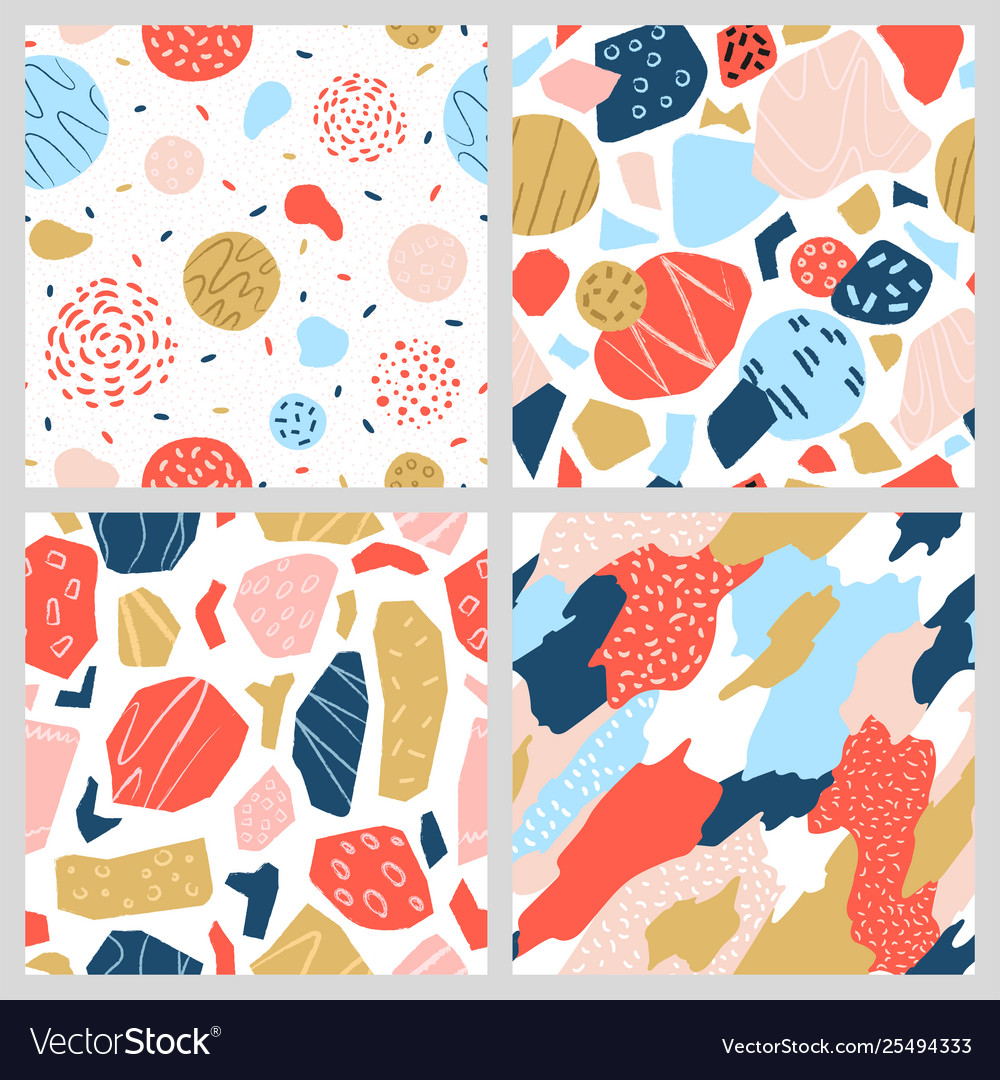 A collection colorful geometric patterns