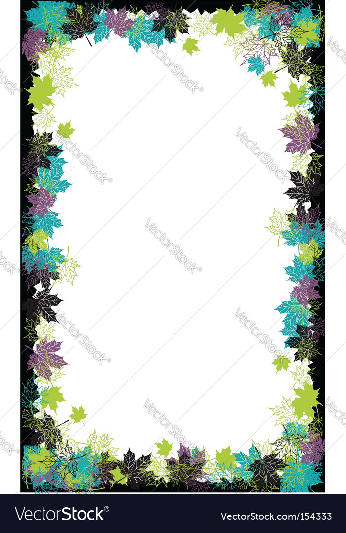 Autumn frame maple leaf Royalty Free Vector Image