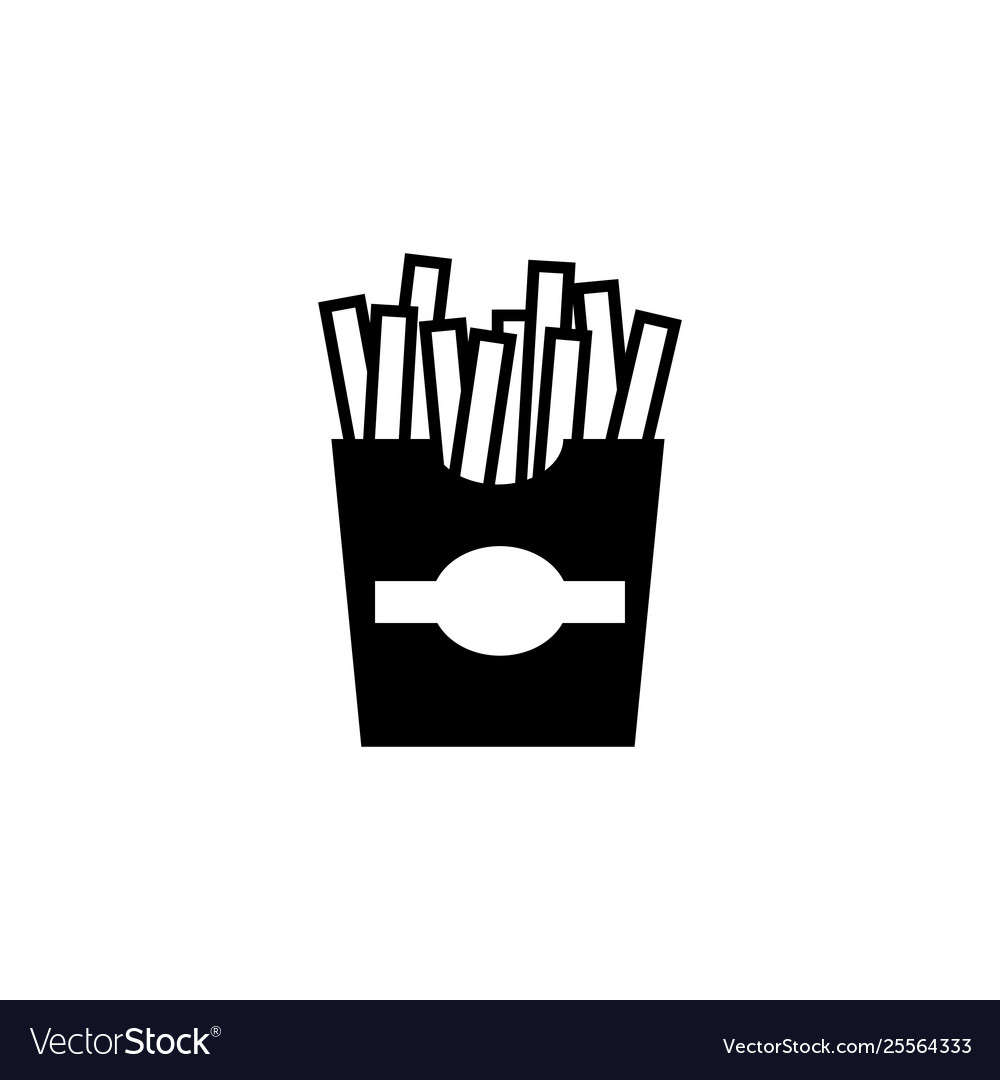 Fast food french fries flat icon