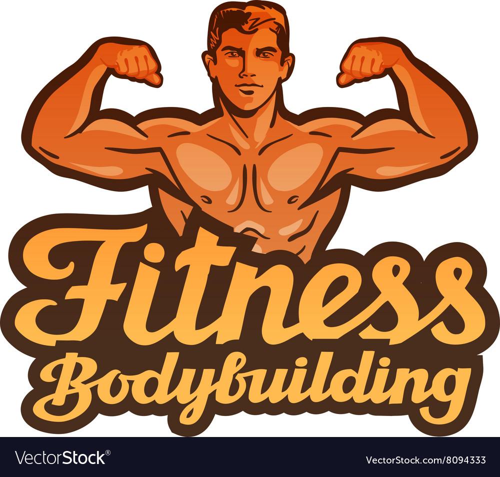 Fitness logo gym sport or bodybuilding