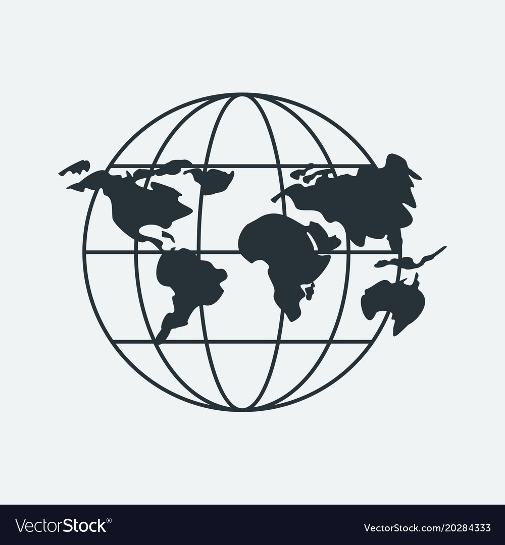 Global map black icon royalty free vector image global map black icon vector image gumiabroncs Images