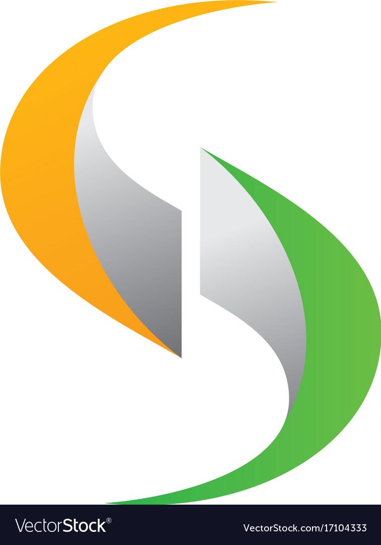 Letter s 3d technology logo