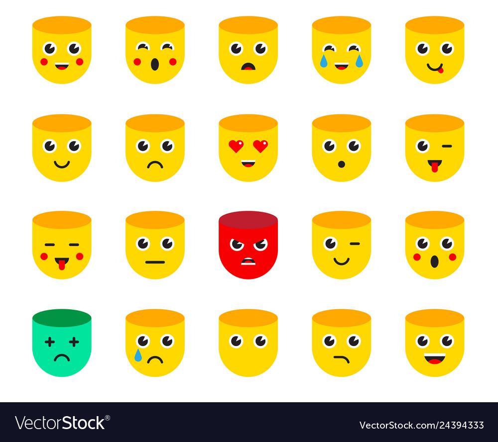 Set emoticons stickers emoji