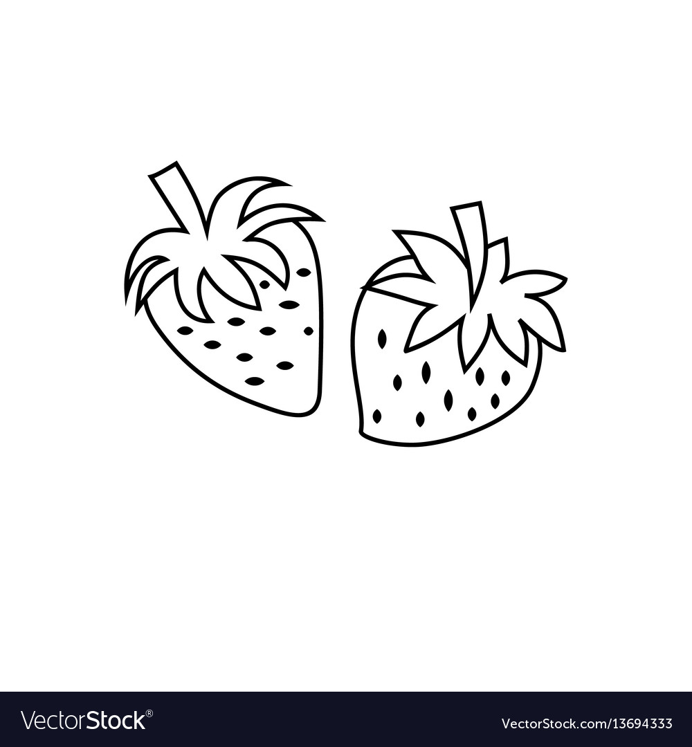 Strawberry icon character 03 vector image