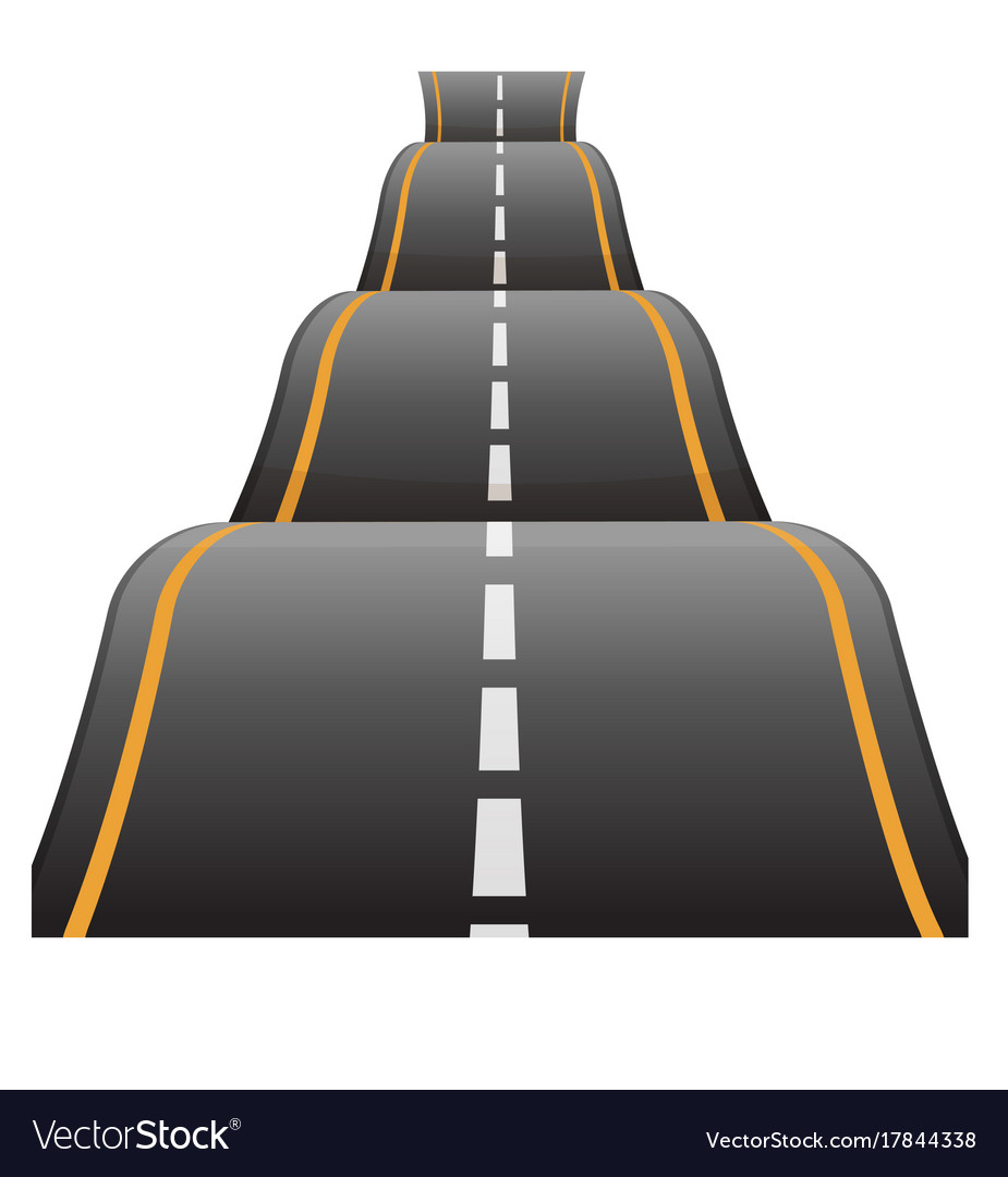 Bumpy road icon uneven dangerous wave path with