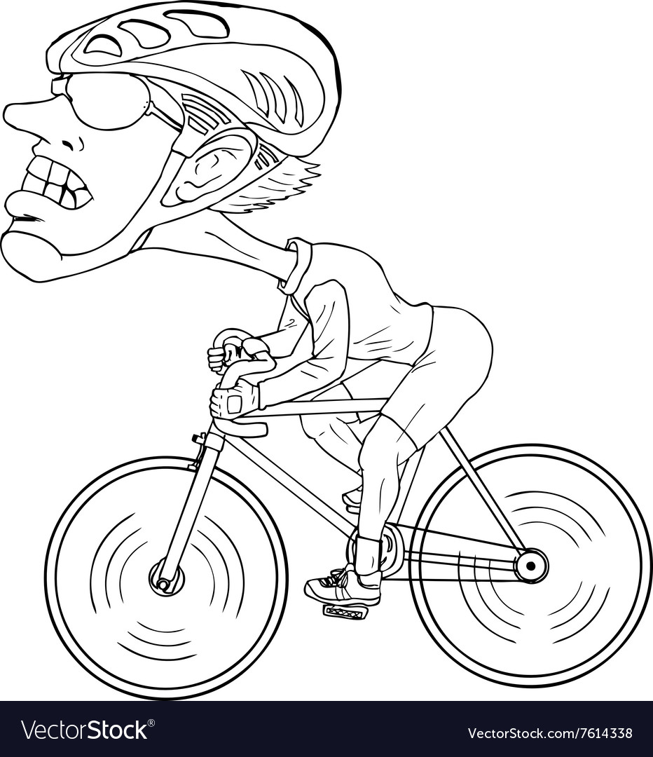 Cyclist Cartoon