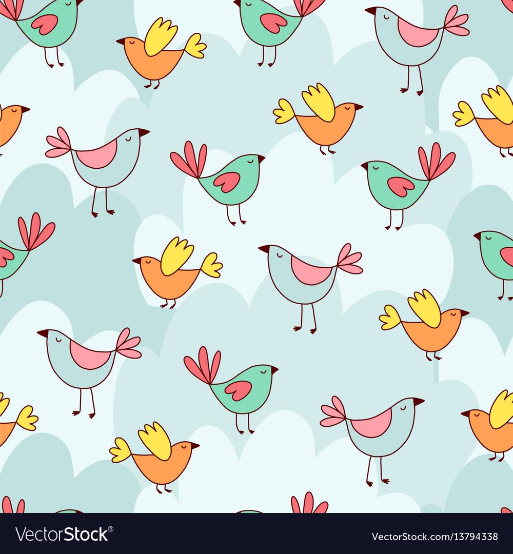Doodles cute seamless pattern