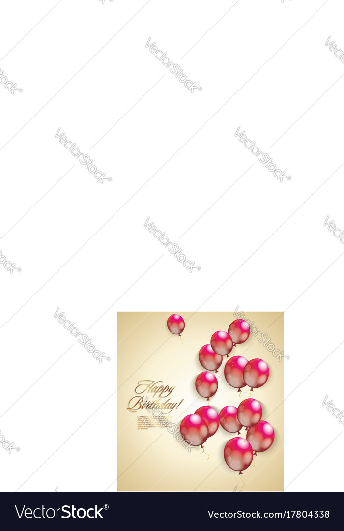 Happy Birthday Card Vintage Design Royalty Free Vector Image