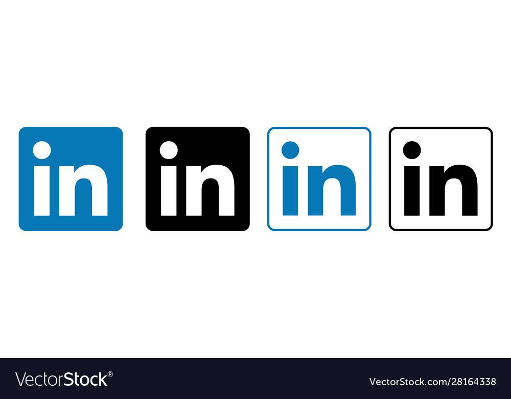 Linkedin set social media logos