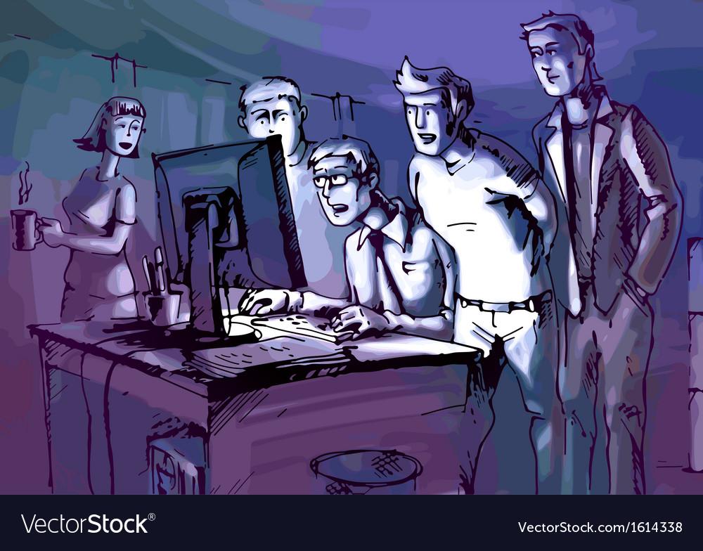Looking at Monitor