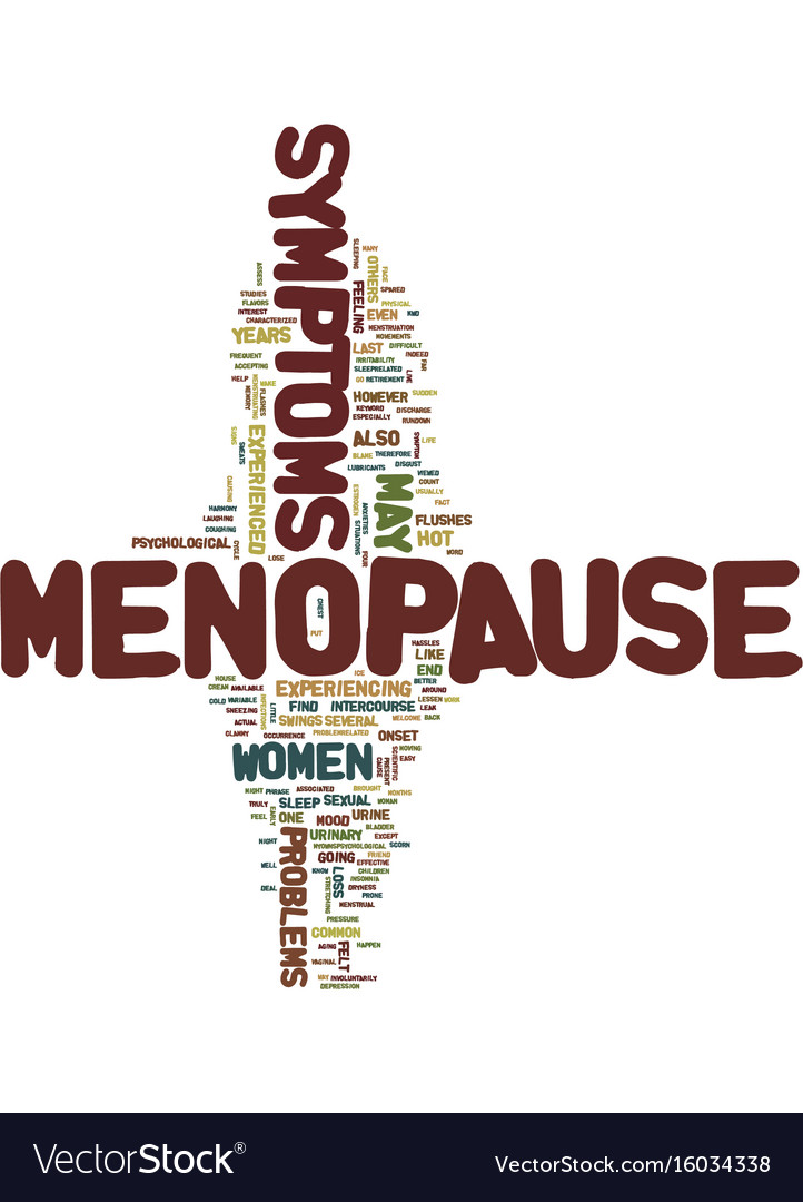 Menopause symptoms text background word cloud