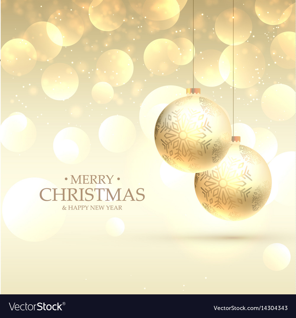 Beautiful elegant merry christmas greeting card vector image