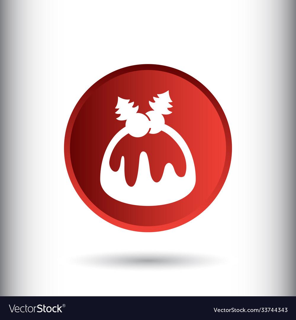 Christmas cake icon sign icon cake