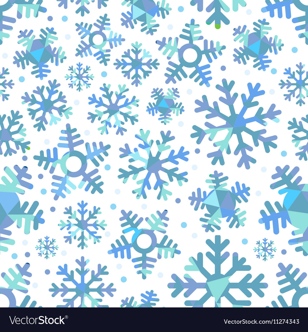 Different blue snowflakes Abstract seamless