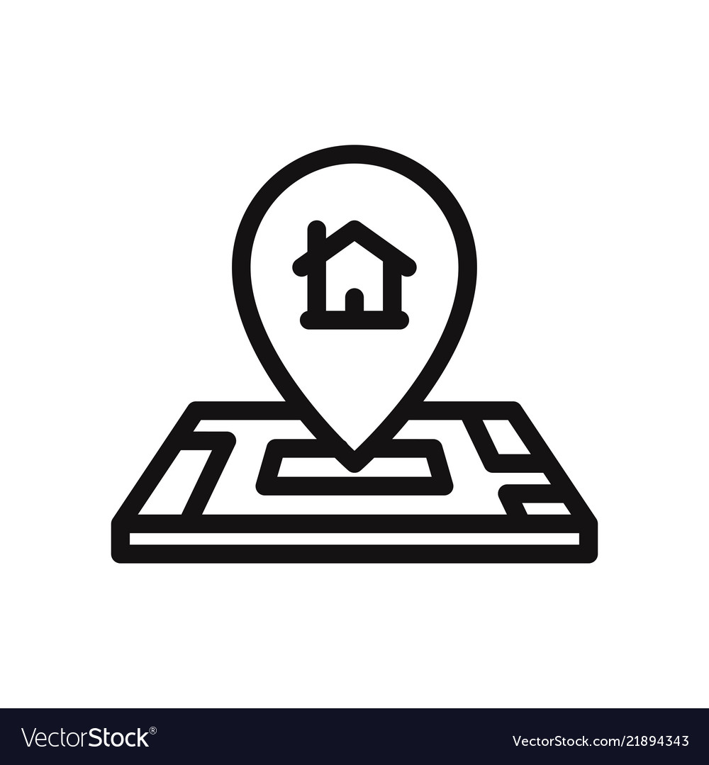 Home location on map icon