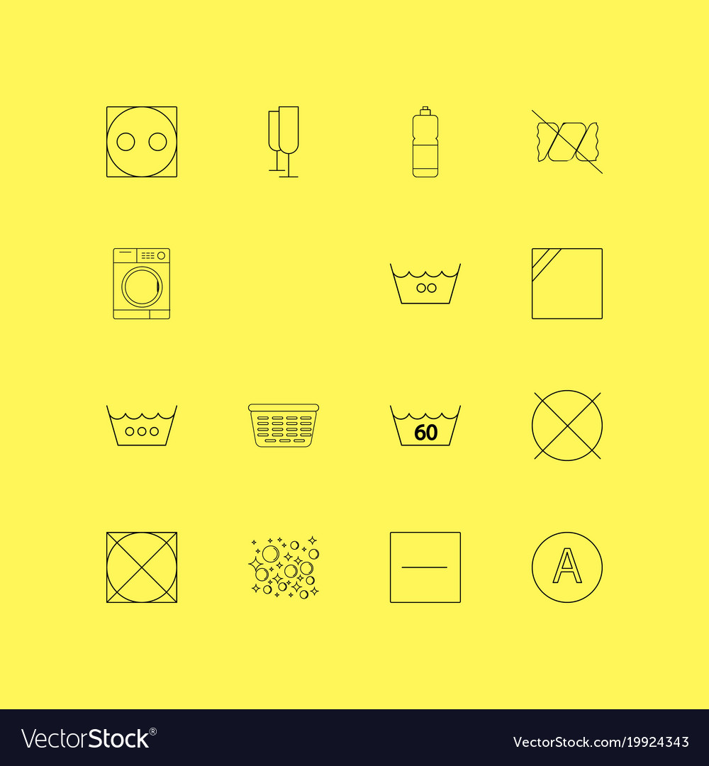 Laundry linear icon set simple outline icons vector image on VectorStock