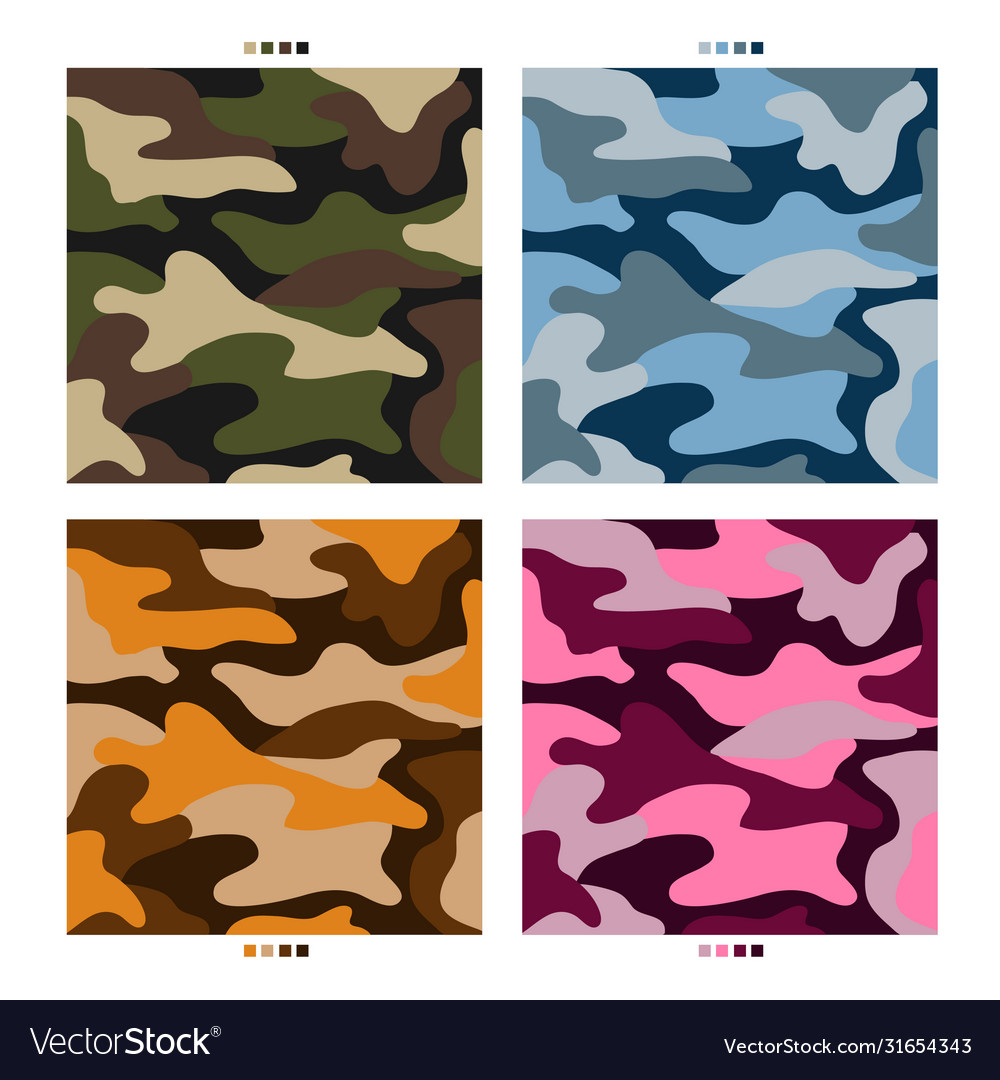 Military camouflage pattern design