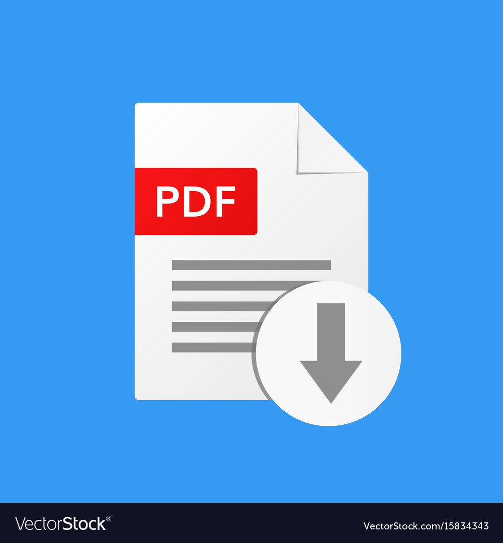 Pdf document download pdf file format vector image