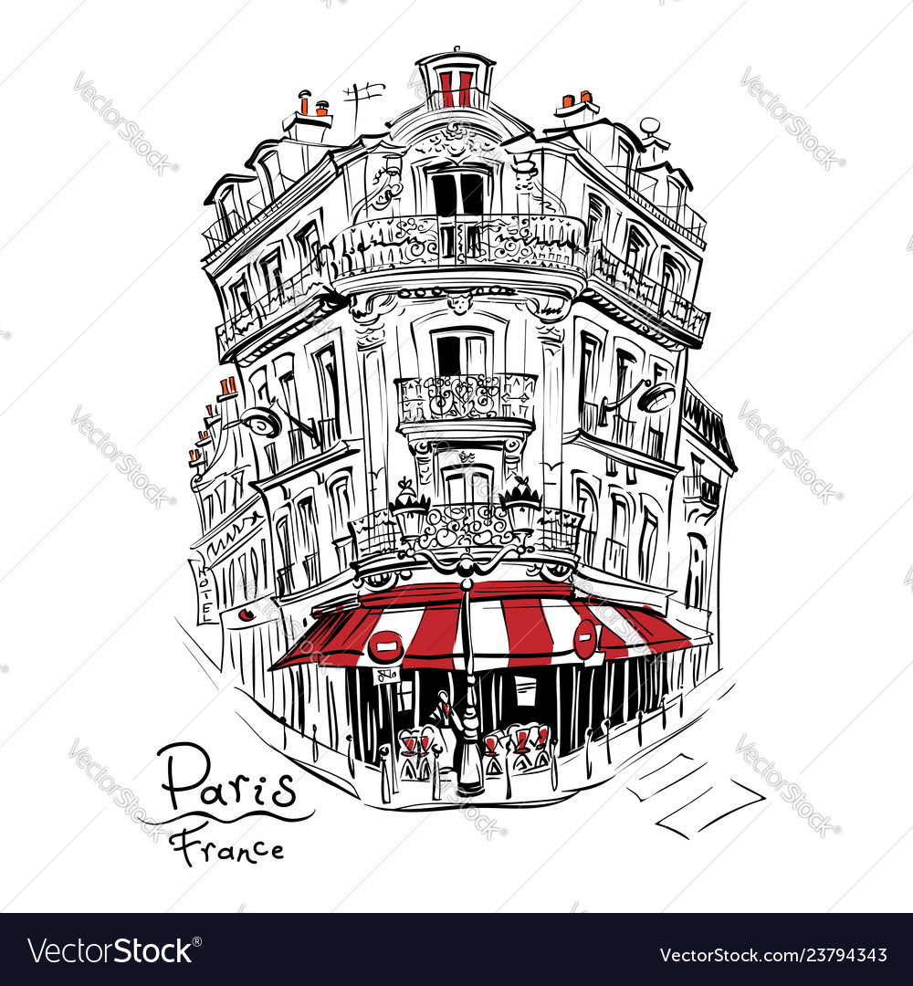 Typical parisian house france
