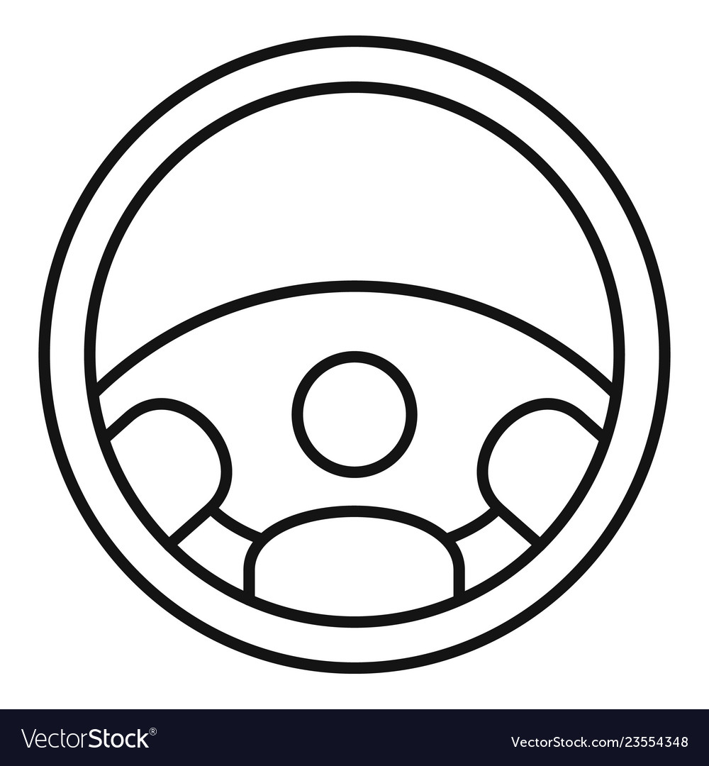 Car steering wheel icon outline style