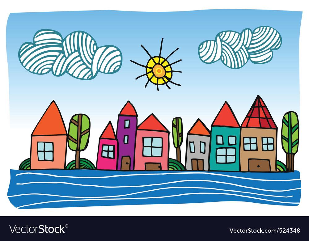 Cartoon town