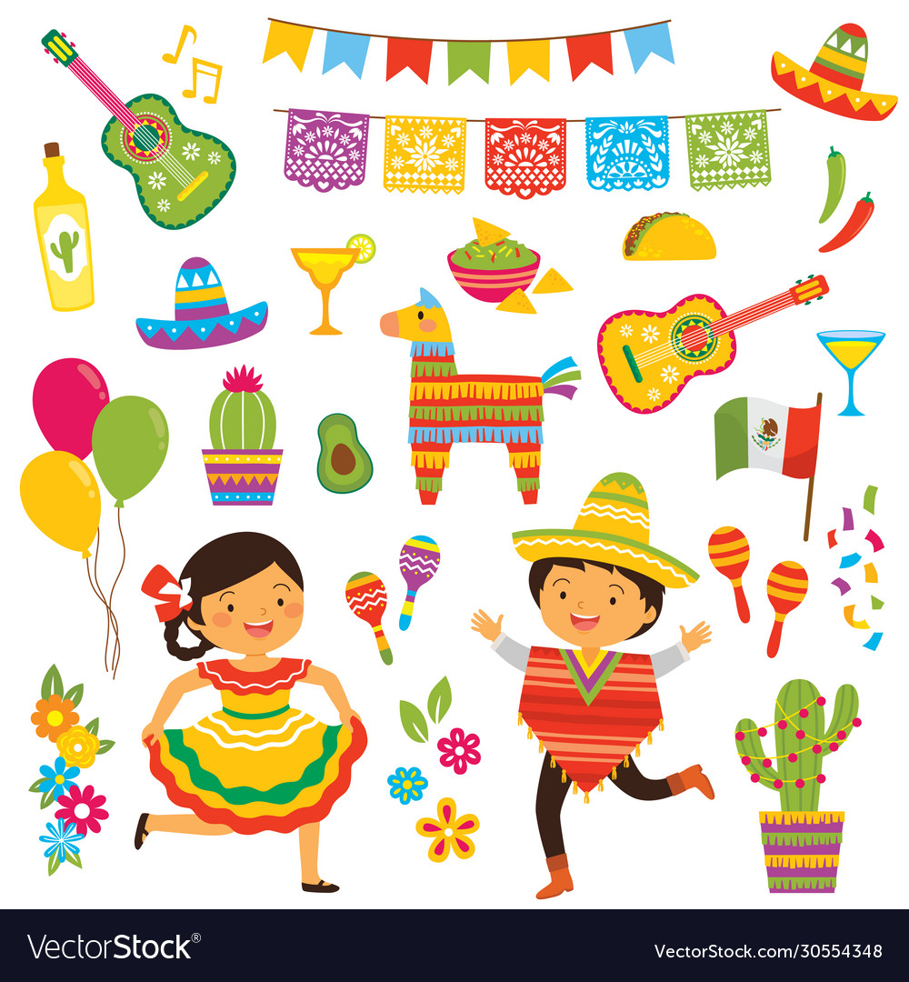 Cinco de mayo clipart set Royalty Free ...