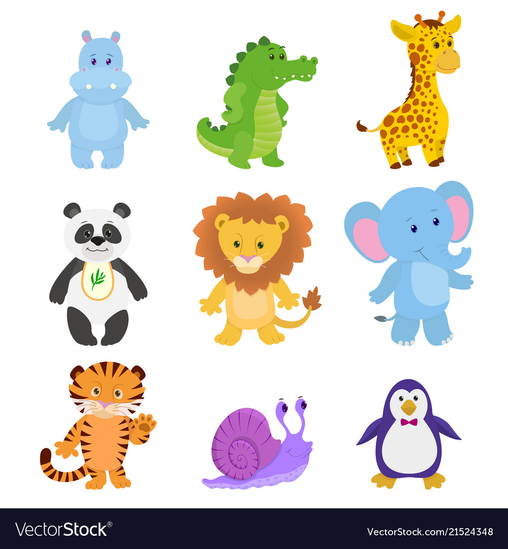 Collection funny animals