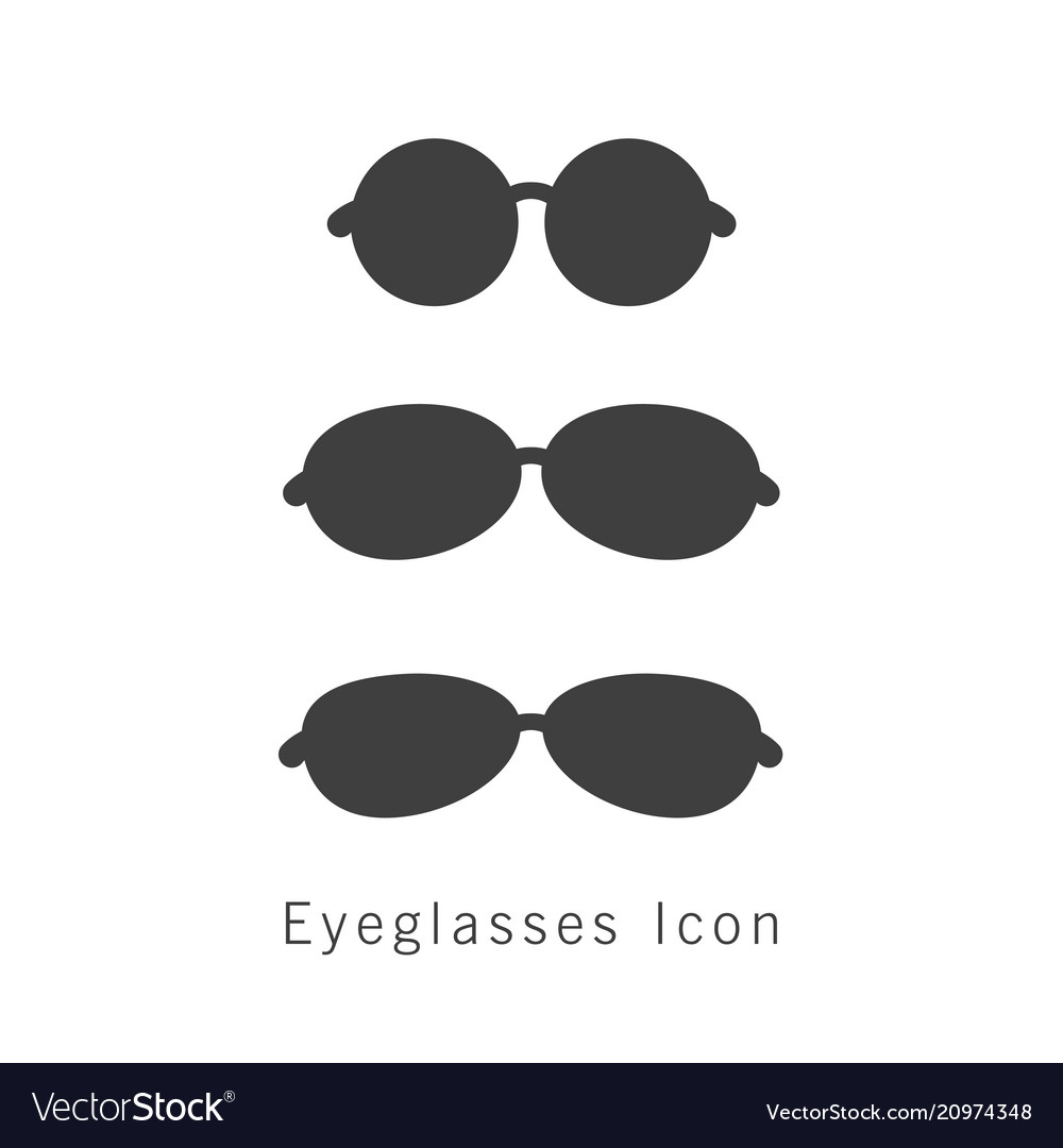 Eyeglasses icon set