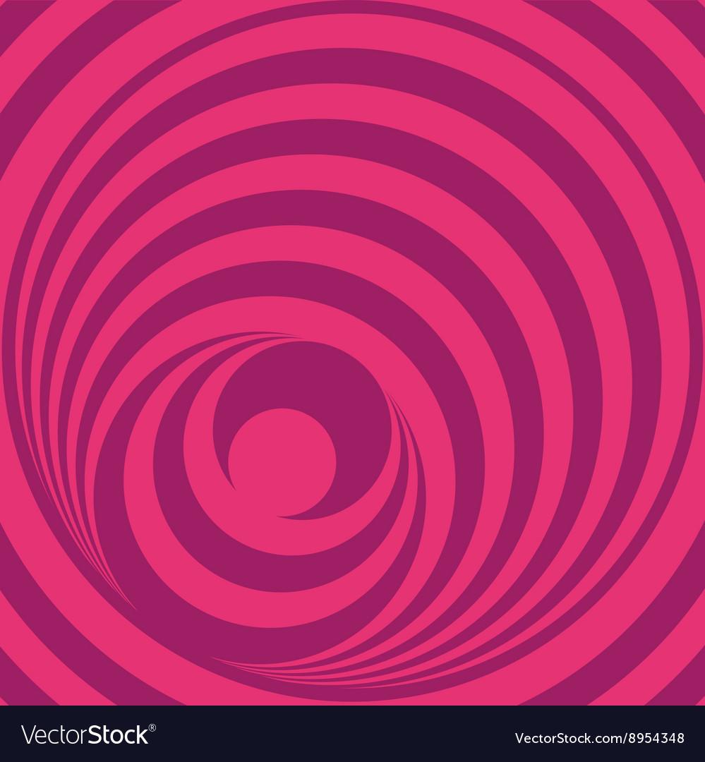 Pink Op Art Circles vector image