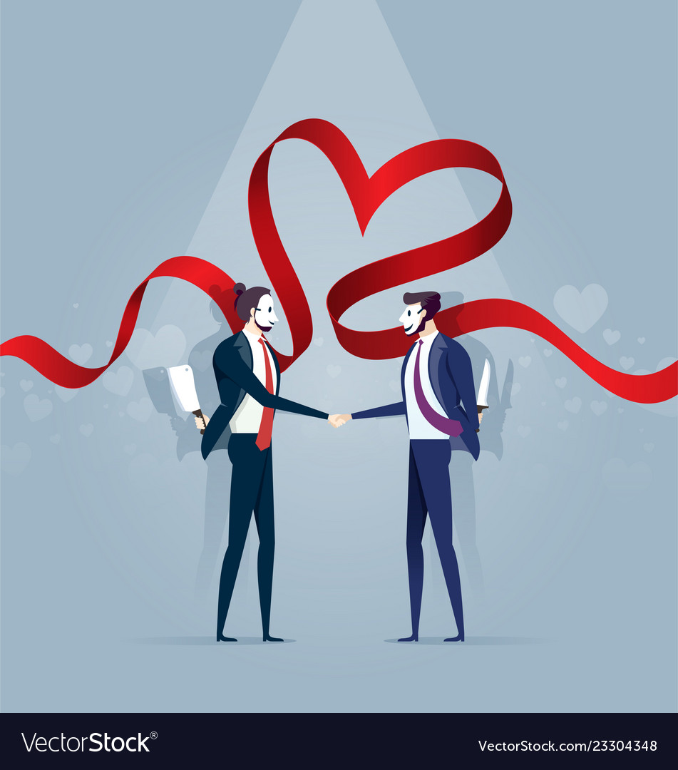Two business man in mask shake hands and hold