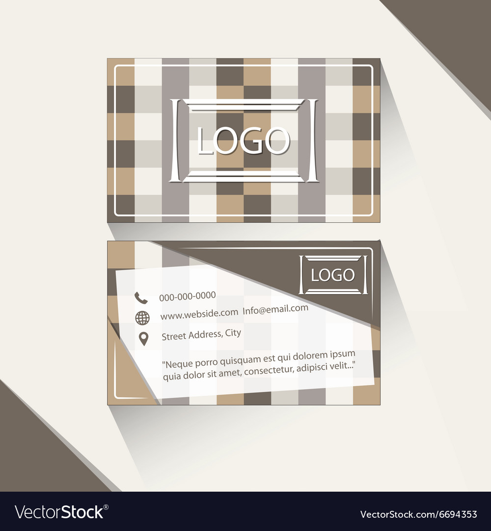 Abstract brown business card