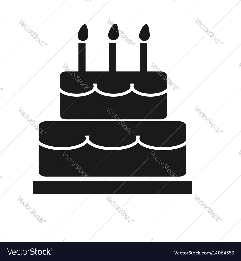 Cake icon on white background cake sign