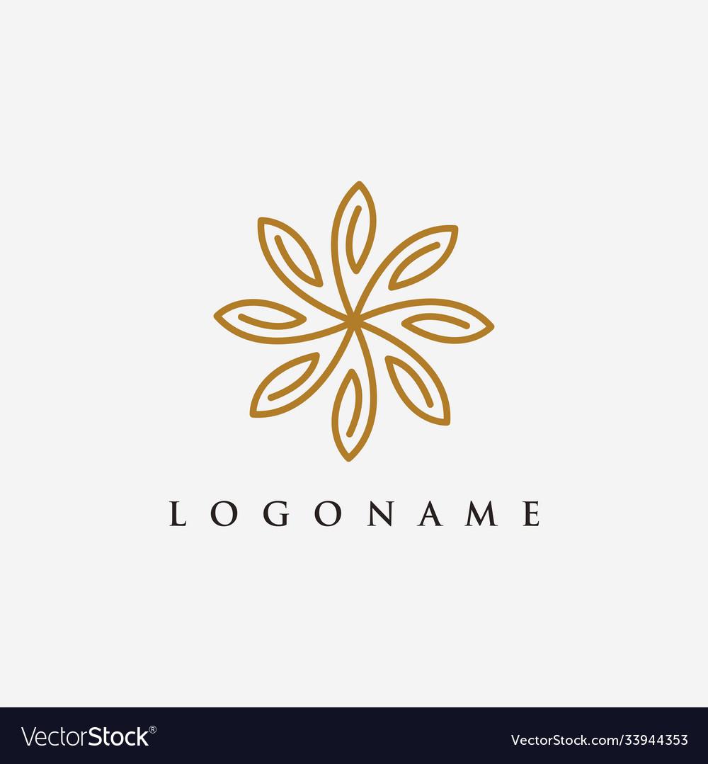 Elegant floral nature logo icon template