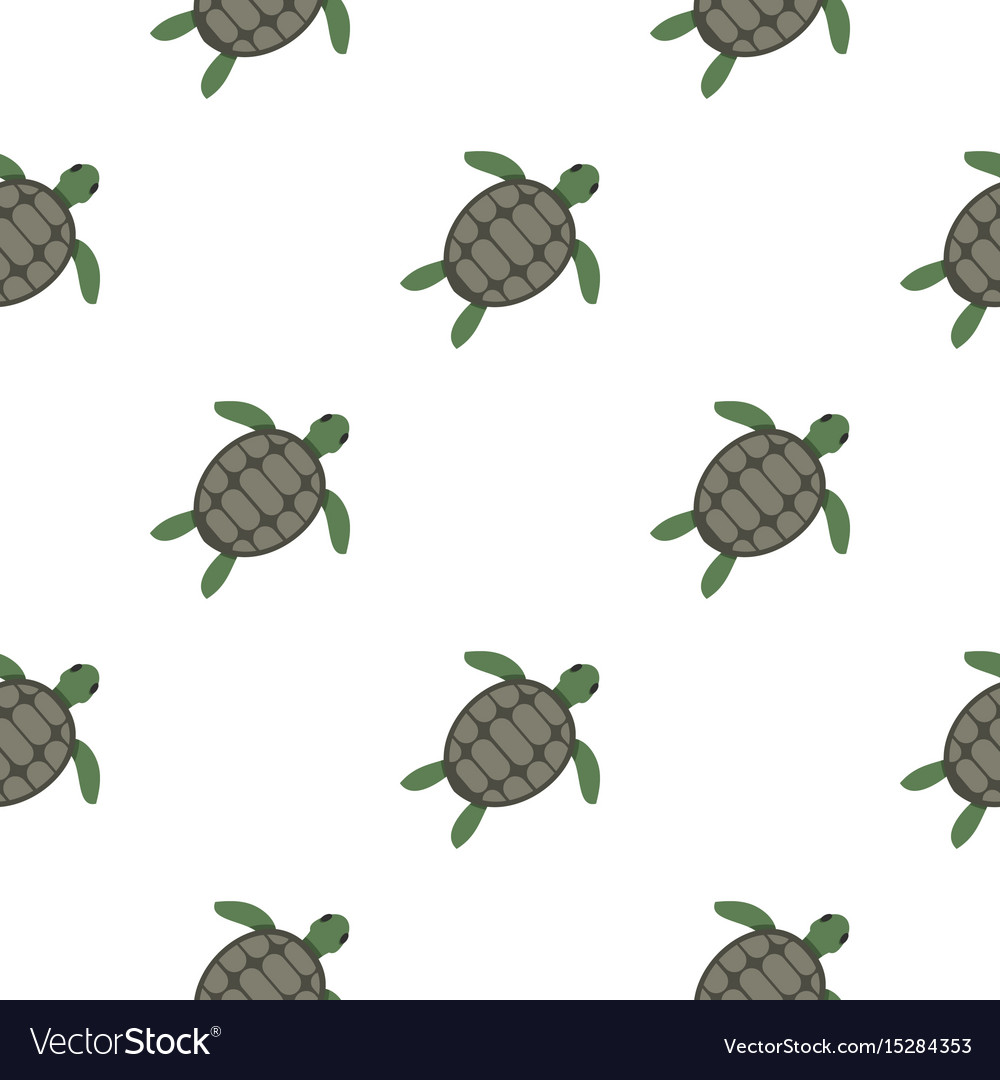 Green Sea Turtle Pattern Seamless Royalty Free Vector Image
