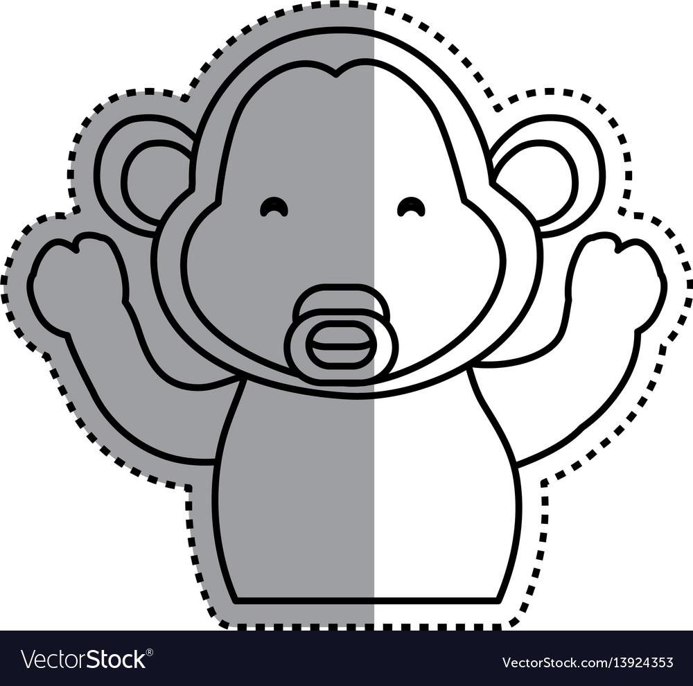 Monkey cartoon drawing animal