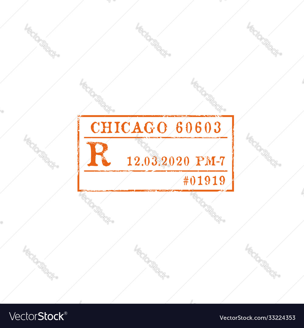 Postage stamp chicago post office isolated mark