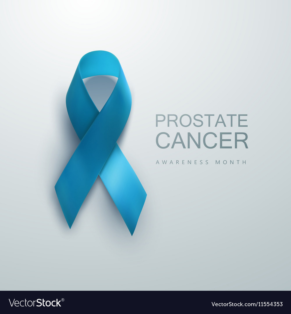 Prostate Cancer Awareness Blue Ribbon vector image