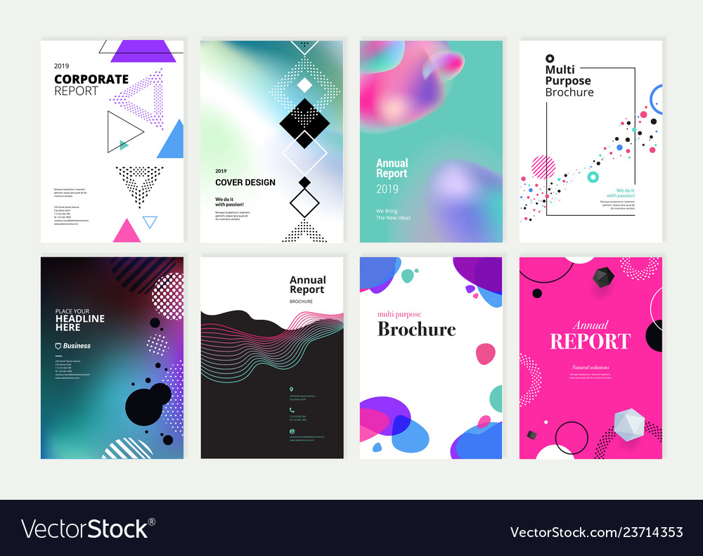 Set of brochure annual report design template