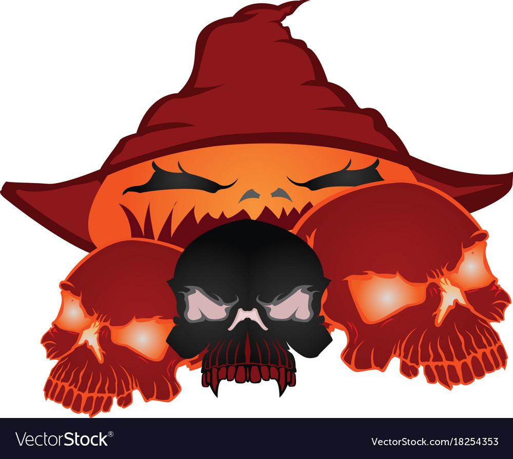 Skull halloween pumpkins