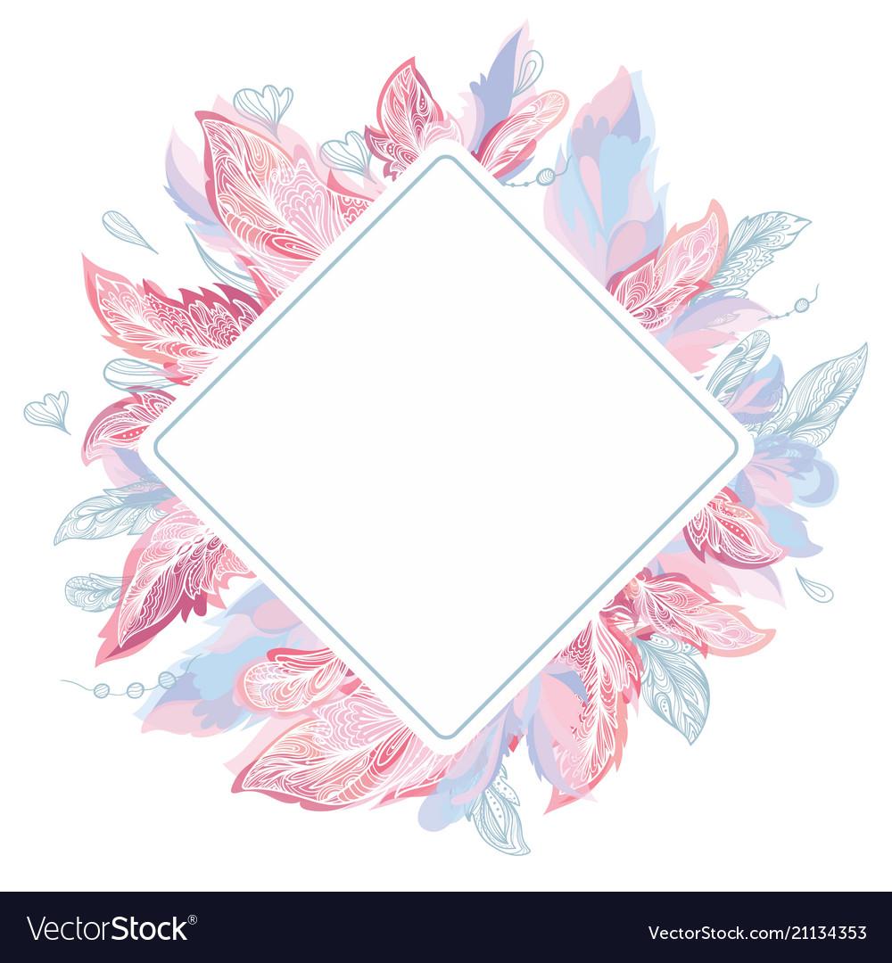 Tender feather frame