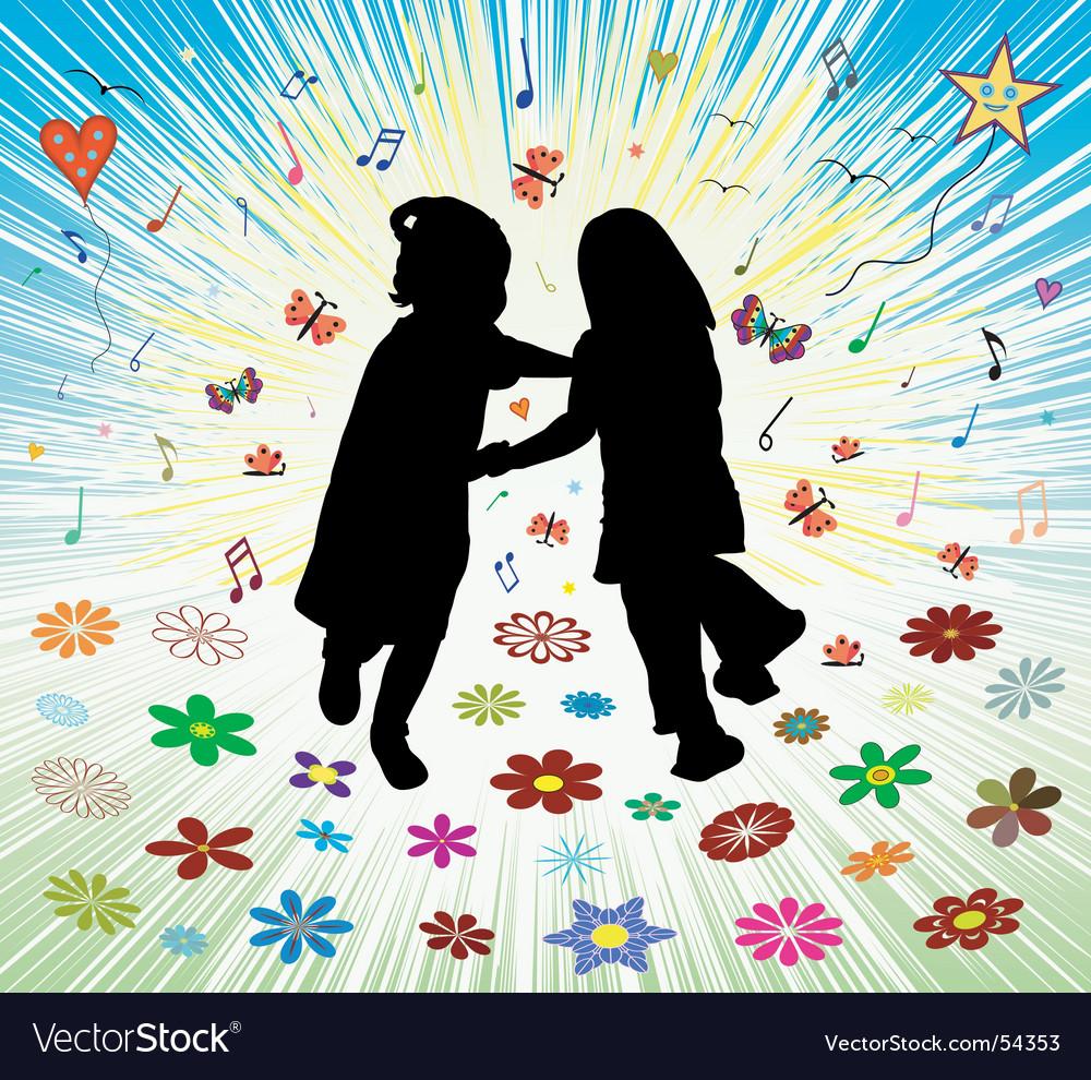 The joy of children vector image