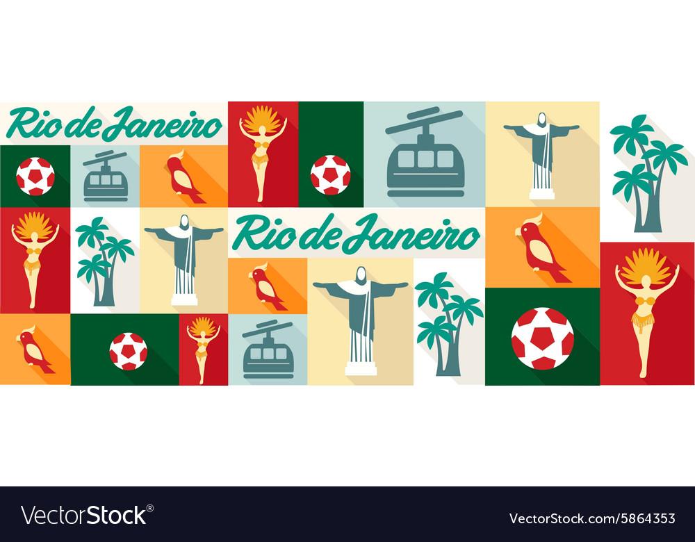 Travel and tourism icons Rio De Janeiro