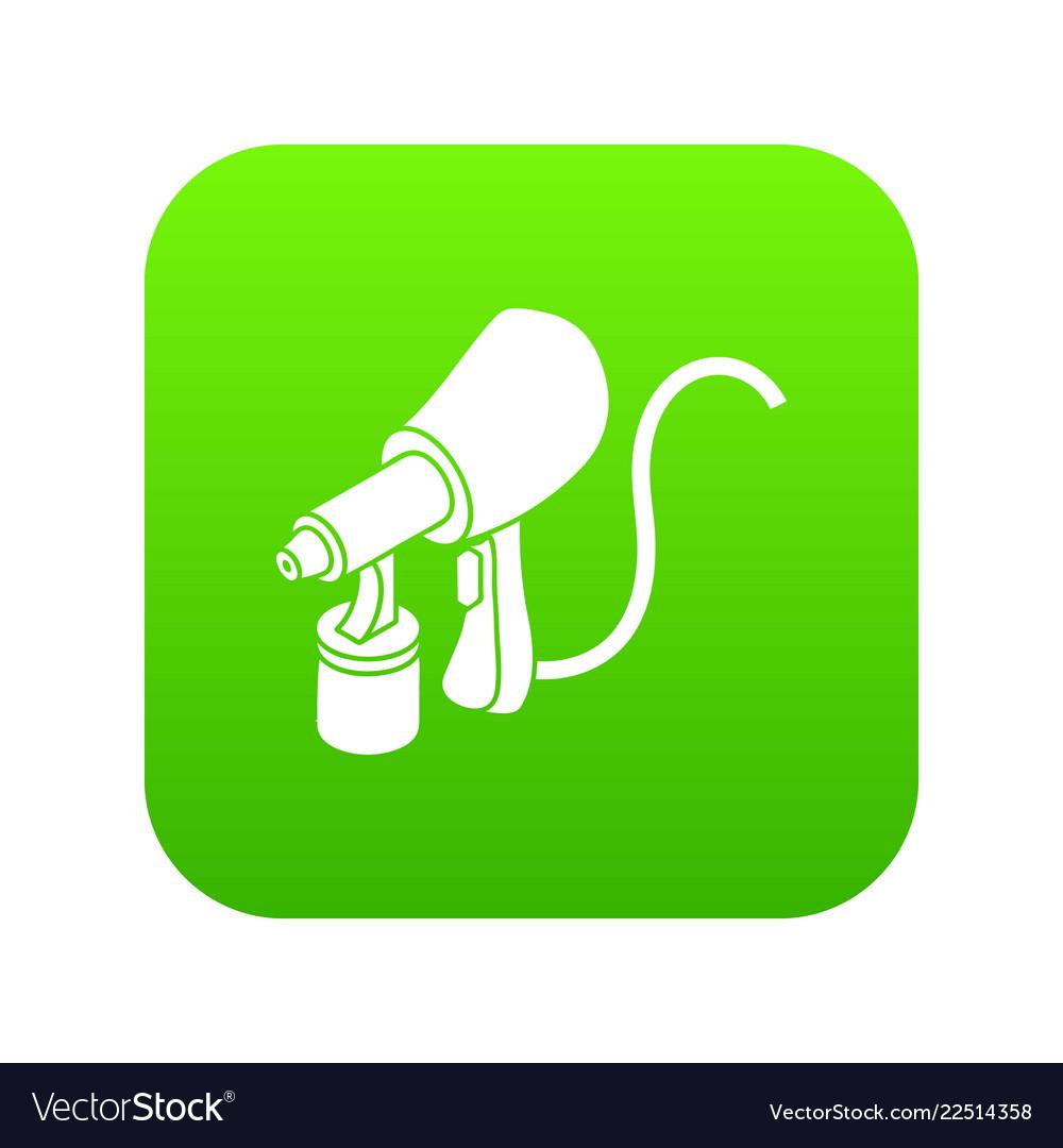 Air paint sprayer icon green