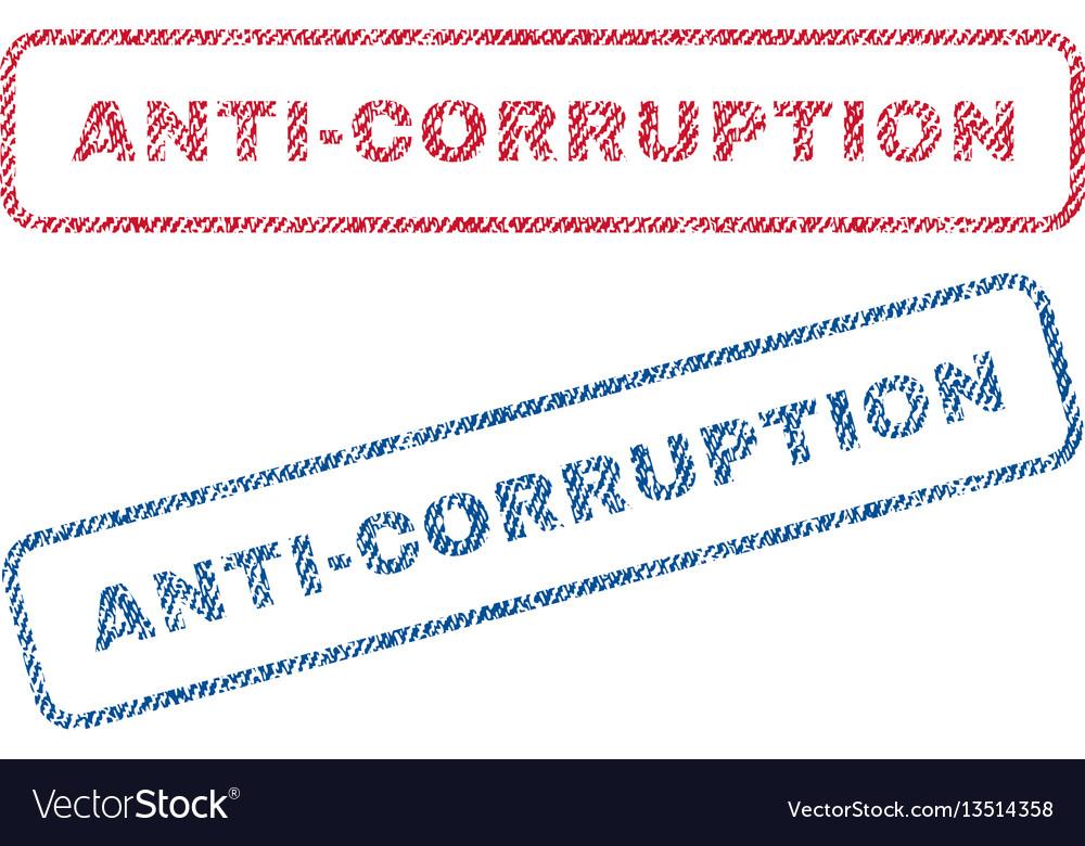 Anti-corruption textile stamps